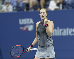September 5, 2017 - New York, New York, United States - Petra Kvitova of Czech Republic reacts during match against Venus Williams of USA at US Open Championships at Billie Jean King National Tennis Center  (Credit Image: © Lev Radin/Pacific Press via ZUMA Wire)