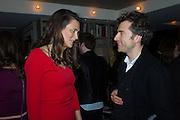 OLIVIA COLE; THOMAS HEATHERWICK, Spectator Life - 3rd birthday party. Belgraves Hotel, 20 Chesham Place, London, SW1X 8HQ, 31 March 2015