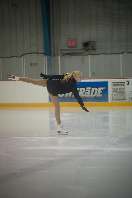 Frederick, MD (December 4, 2011) -- Figure skating test at Skate Frederick Ice Skating Rink.  Photo by Johnny Bivera
