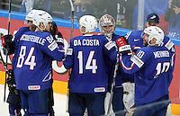 Joie France - 12.05.2015 - Lettonie / France - Championnats du Monde Hockey sur Glace -Prague<br /> Photo : Xavier Laine / Icon Sport