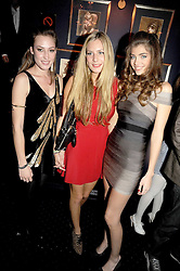 Left to right, LADY TATIANA MOUNTBATTEN, TANSY ASPINALL and MARIA FRERING at the Tatler Magazine Little Black Book party at Tramp, 40 Jermyn Street, London SW1 on 5th November 2008.
