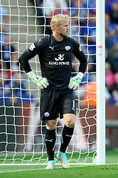 Leicester City's Kasper Schmeichel - Photo mandatory by-line: Dougie Allward/JMP - Mobile: 07966 386802 - 21/09/2014 - SPORT - FOOTBALL - Leicester - King Power Stadium - Leicester City v Manchester United - Barclays Premier League