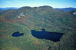White Mountain N.F., NH. Sawyer Pond Scenic Area from the air.  White Mountain National Forest. Early fall.