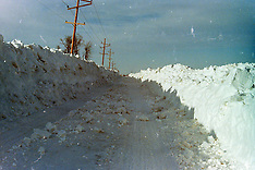 1970's Central Illinois Snows  Royalty Free Stock Images