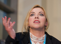 Charlotte Church speaking at a Hacked Off campaign fringe meeting during the Conservative Party Conference, ICC, Birmingham, Great Britain, October 9, 2012. Photo by Elliott Franks / i-Images.