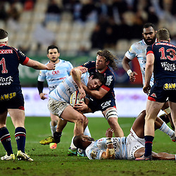 Henry Chavancy of Racing 92, Fabien Alexandre of Grenoble during the French Top 14 match between Grenoble and Racing 92 at Stade des Alpes on March 4, 2017 in Grenoble, France. (Photo by Romain Lafabregue/Icon Sport)