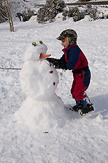 Itroducing A Child to Snow at Lake Tahoe