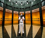 Randy Johnson at National Baseball Hall of Fame and Museum photograph, 2017 July 28