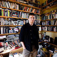 Ian Rankin, Scottish author and creator of the Inspector Rebus novels at his library in his home in Edinburgh..Picture Michael Hughes/Maverick