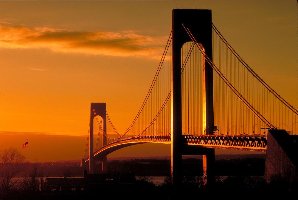 Verrazano-Narrows Bridge, connecting Brooklyn and Staten Island, New York
