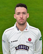 Head shot.  Paul van Meekeren wearing the Somerset Specsavers County Championship kit at the media day at Somerset County Cricket Club at the Cooper Associates County Ground, Taunton, United Kingdom on 11 April 2018. Picture by Graham Hunt.