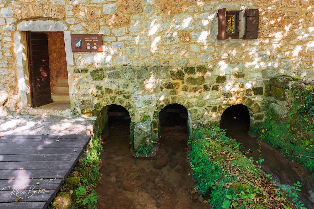 Historic mill at Roski Slap, Krka National Park, Dalmatia, Croatia