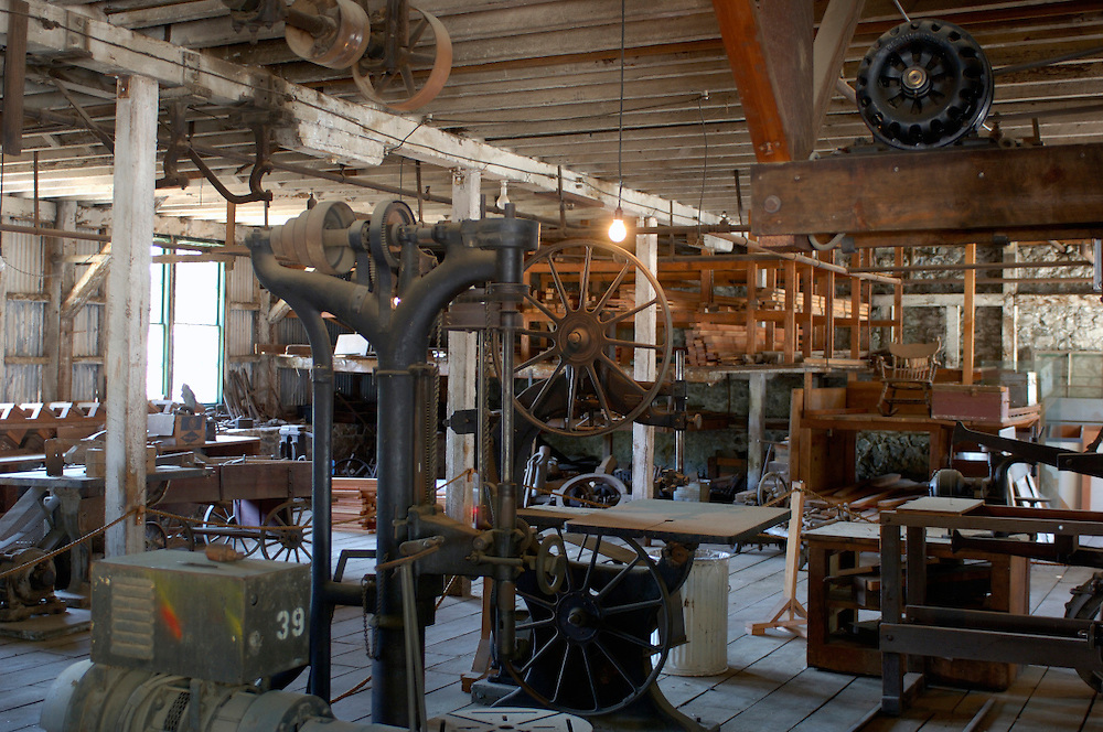The Machine Shop, Empire Mine State Historic Park, Grass Valley, Gold Country, California, United States of America