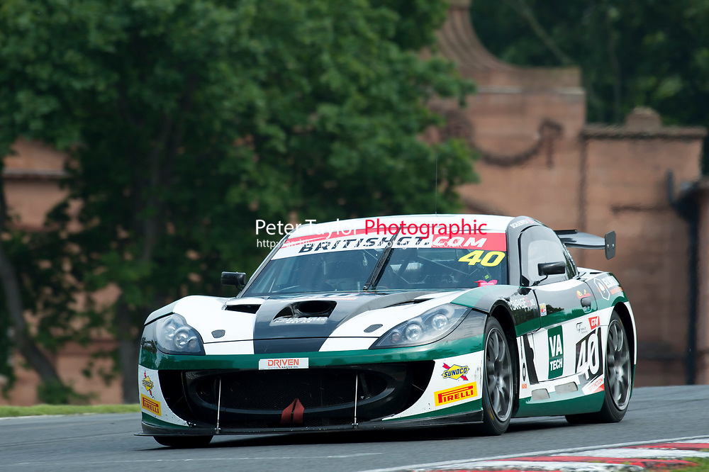 Sean Byrne (IRL) / Aleksander Schjerpen (NOR)  #40 Century Motorsport  Ginetta G55 GT3  Ford Cyclone 3.7L V6 British GT Championship at Oulton Park, Little Budworth, Cheshire, United Kingdom. May 28 2016. World Copyright Peter Taylor/PSP.