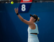 Belinda Bencic of Switzerland in action during the first round of the 2018 US Open Grand Slam tennis tournament, at Billie Jean King National Tennis Center in Flushing Meadow, New York, USA, August 28th 2018, Photo Rob Prange / SpainProSportsImages / DPPI / ProSportsImages / DPPI