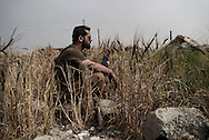 Iraq, Kurdistan: Peshmerga soldier in Sinjar. <br />