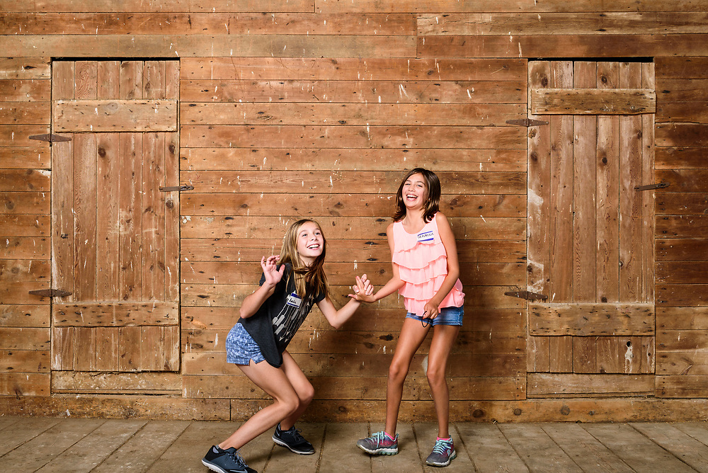 Relatives make self portraits using a photo booth set up in the barn at the Stute farm during a Mich/Stute family reunion in East Troy, Wis., on Aug. 5, 2017. (Photo by Jeff Miller, www.jeffmillerphotography.com)