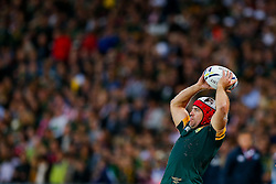 South Africa replacement Schalk Brits throws at a lineout - Mandatory byline: Rogan Thomson/JMP - 07966 386802 - 07/10/2015 - RUGBY UNION - The Stadium, Queen Elizabeth Olympic Park - London, England - South Africa v USA - Rugby World Cup 2015 Pool B.