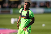 Forest Green Rovers Reece Brown(10) warming up during the EFL Sky Bet League 2 second leg Play Off match between Forest Green Rovers and Tranmere Rovers at the New Lawn, Forest Green, United Kingdom on 13 May 2019.