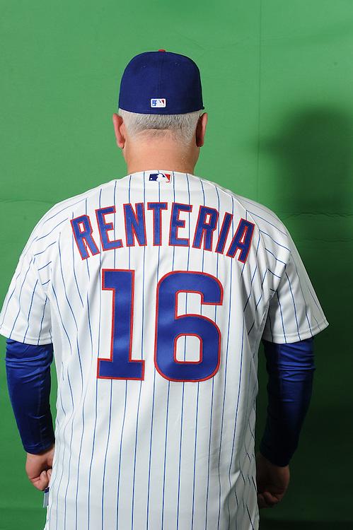 Rick Renteria press conference and portraits
