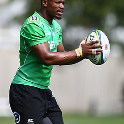 DURBAN, SOUTH AFRICA - APRIL 10: Makazole Mapimpi of the Cell C Sharks during the Cell C Sharks training session at Jonsson Kings Park on April 10, 2018 in Durban, South Africa. (Photo by Steve Haag/Gallo Images)