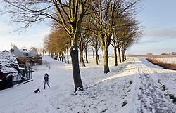 01 February 2019. Montreuil Sur Mer, Pas de Calais, France.<br /> The ancient citadel town of Montreuil Sur Mer awoke to a blanketing of fresh snow. <br />  <br /> L'ancienne citadelle de Montreuil Sur Mer s'est r&eacute;veill&eacute;e avec une couverture de neige fra&icirc;che.<br /> <br /> Photo&copy;; Charlie Varley/varleypix.com