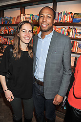 LARISSA PERSONS daughter of Michael Howard and her husband CONRAD PERSONS at a party to celebrate the publication of Sandra Howard's new book - Ex-Wives held at Daunt Books, 83 Marylebone High Street, London W1 on 30th April 2012.