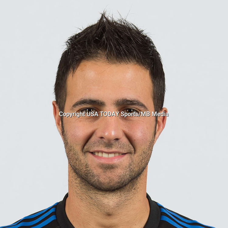 Feb 25, 2017; USA; San Jose Earthquakes player Imperiale Andres poses for a photo. Mandatory Credit: USA TODAY Sports