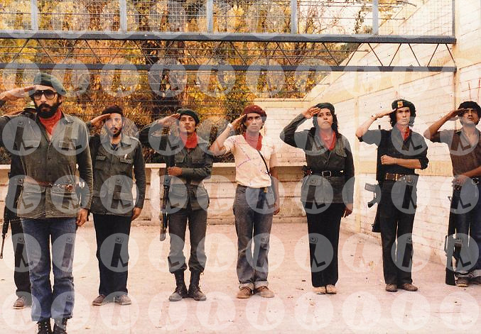 Miembros del Partido Revolucionario de los Trabajadores (PRTC) es una parada militar; este es uno de las organizaciones que conformo el FMLN. Este proximo treinta de octubre 2010 cumple treinta anos y hoy gobierna El Salvador.(Im?genes Libres Photo).