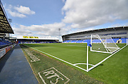 A bright but cold afternoon  before the Sky Bet League 1 match between Oldham Athletic and Bradford City at Boundary Park, Oldham, England on 5 September 2015. Photo by Mark Pollitt.