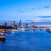 City of London at dawn