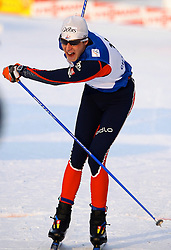 CHANGCHUN, CHINA - SUNDAY, FEBRUARY 25th, 2007: Jonnier Emmanuel of France sprints to win the bronze medal in the men's 15 km sprint race at the 2007 FIS World Cup cross-country skiing event. (Pic by Osports/Propaganda)