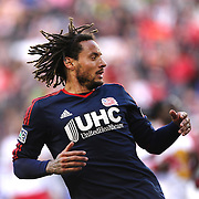 Jermaine Jones , New England Revolution, in action during the New York Red Bulls Vs New England Revolution, MLS Eastern Conference Final, first leg at Red Bull Arena, Harrison, New Jersey. USA. 23rd November 2014. Photo Tim Clayton