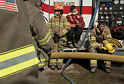 Junior Firefighters McKenna Bolen, Chase Bolen, and Jimmy Barnhart, from the Richland and Albany Fire Department attend the Athens County Junior Firefighter Association's monthly Junior Firemen Training at the Ames-Bern Amesville Fire Department.