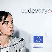 20160616 - Brussels , Belgium - 2016 June 16th - European Development Days - Shared responsibility for global value chains - Catalina Pislaru , Project Manager , CSR Europe - Moderator © European Union