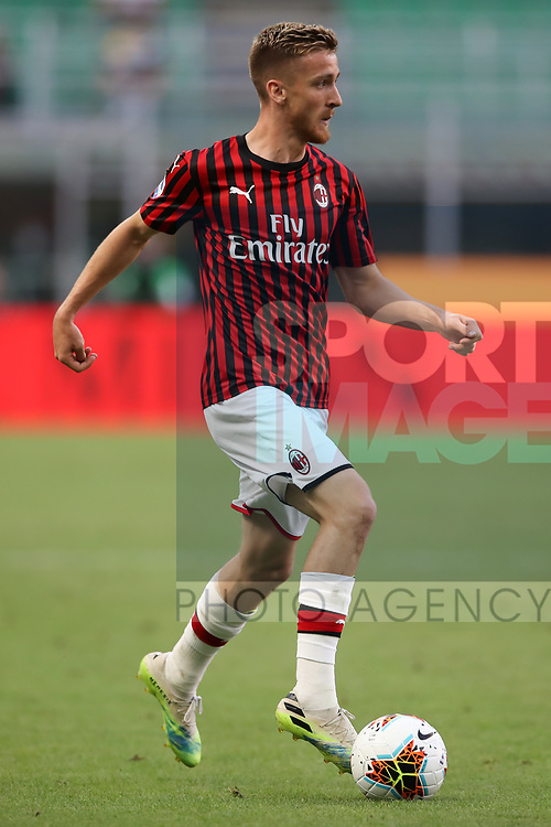 AC Milan's Belgian midfielder Alexis Saelemaekers during the Serie A match at Giuseppe Meazza, Milan. Picture date: 28th June 2020. Picture credit should read: Jonathan Moscrop/Sportimage