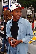 "WASHINGTON, DC - September 11: World Champion Boxer Sugar Ray Leonard participates in K-Mart's ""Race Against Drugs"" in Washington, DC. September 11, 1997  (Photo RIchard Ellis)"
