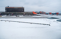 MOSCOW - CIRCA MARCH 2013: Airplane landing in Sheremetyevo International Airport in Moscow circa 2013. This is a major hub with more than 26 million passengers in 2012.