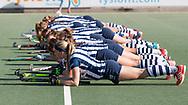 DEN HAAG - Het team van HDM , met vooraan Grace Huberts (HDM)).  hoofdklasse competitie dames. HDM-HUIZEN. COPYRIGHT KOEN SUYK