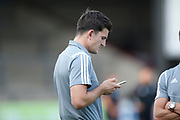 Harry Maguire of Leicester City before the Pre-Season Friendly match between Scunthorpe United and Leicester City at Glanford Park, Scunthorpe, England on 16 July 2019.