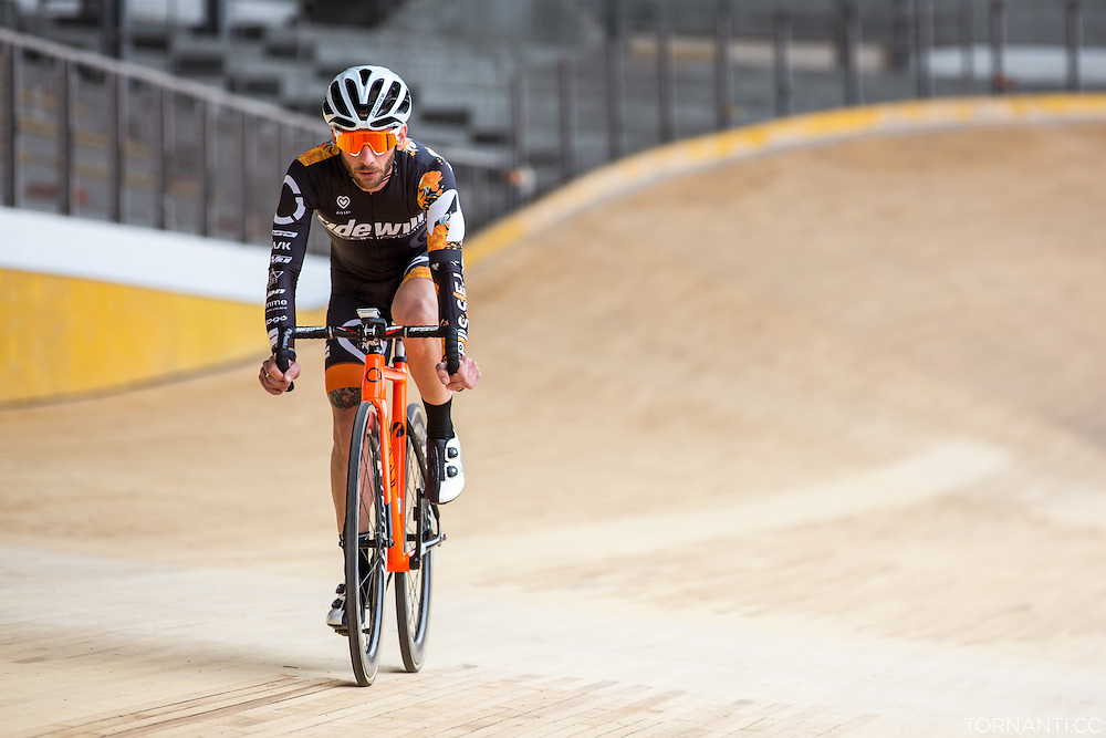 Reopening of the Milano Vigorelli velodrome after the track renovation