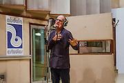 Havana, Cuba,December 18, 2014: Jazz master drummer and singer, Bobby Kapp records at the Abdala Estudio in Havana.  12/16/2014 (Photo: Ann Summa).