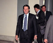 Republican Whip Tom Delay walks to the Majority Caucus meeting November 18, 1998 in Washington, DC. The caucus is electing a new speaker and leadership positions following midterm elections.