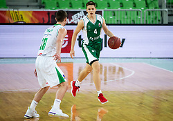Martin Jancar Jarc of Krka during basketball match between KK Petrol Olimpija and KK Krka in Round #6 of Liga Nova KBM za prvaka 2018/19, on April 5, 2019, in Arena Stozice, Ljubljana, Slovenia. Photo by Vid Ponikvar / Sportida