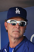 LOS ANGELES, CA - JUNE 30:  Don Mattingly #8 manager of the Los Angeles Dodgers talks to the media before the game against the Philadelphia Phillies on Sunday, June 30, 2013 at Dodger Stadium in Los Angeles, California. The Dodgers won the game 6-1. (Photo by Paul Spinelli/MLB Photos via Getty Images) *** Local Caption *** Don Mattingly