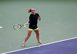 March 10, 2018 - Indian Wells, CA, U.S. - INDIAN WELLS, CA - MARCH 10: Kiki Bertens ( NED ) hits a forehand during the second round of the BNP Paribas Open on March 10, 2018, at the Indian Wells Tennis Gardens in Indian Wells, CA. (Photo by Adam  Davis/Icon Sportswire) (Credit Image: © Adam Davis/Icon SMI via ZUMA Press)