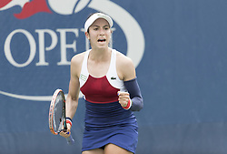 August 31, 2017 - New York, New York, United States - Christina McHale of USA reacts during match against Daria Kasatkina of Russia at US Open Championships at Billie Jean King National Tennis Center  (Credit Image: © Lev Radin/Pacific Press via ZUMA Wire)