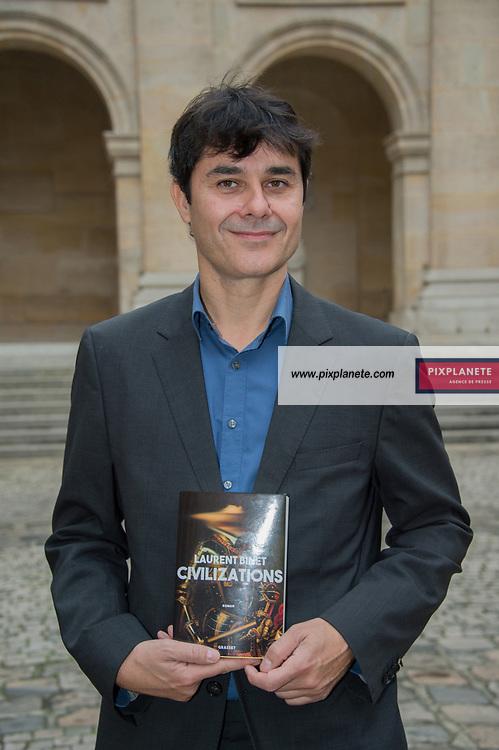 Laurent Binet Lauréat  du Grand Prix du roman de l'Académie Française 2019 Grand Prix du roman de l'Académie Française 2019 jeudi 31 Octobre 2019 Académie Française Paris