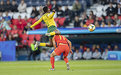 Thembi KGATLANA, WANG Shanshan in action during the match of 2019 FIFA Women's World Cup France group B match between South Africa and China, at Parc Des Princes stadium on June 13, 2019 in Paris, France. Photo by Loic Baratoux/ABACAPRESS.COM