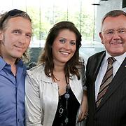 NLD/Hilversum/20080814 - het beste Idee van Nederland 2008, juryleden, Erland Bakkers, Manon Navarro en Bernd Schneider